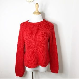 H&M Red Chunky Sweater
